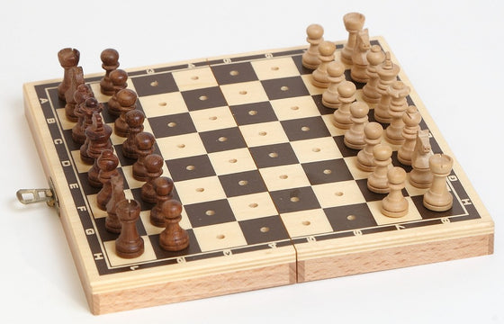 Wooden Travel Folding Chess Set