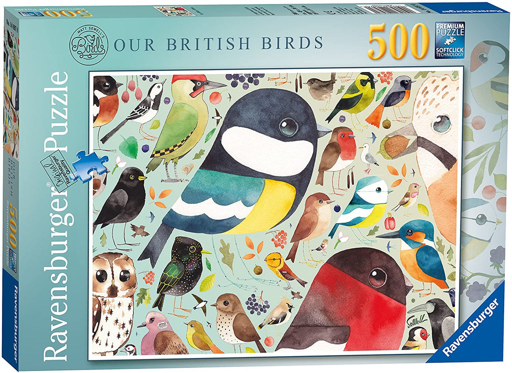 Sewell's British Birds 500pc Puzzle