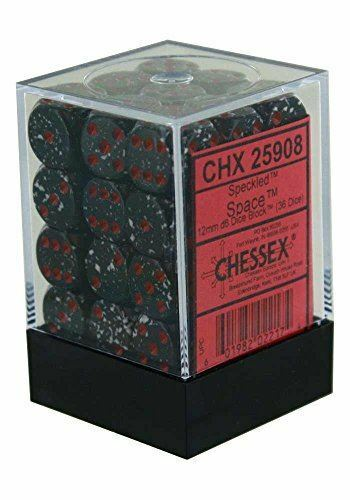 Chessex Speckled D6 Dice - 36 Pack