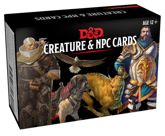 Dungeons and Dragons Monster Cards NPC s & Creatures