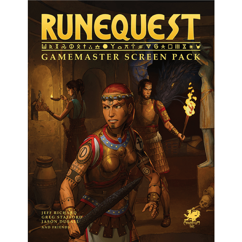 Runequest RPG Gamemaster Screen Pack