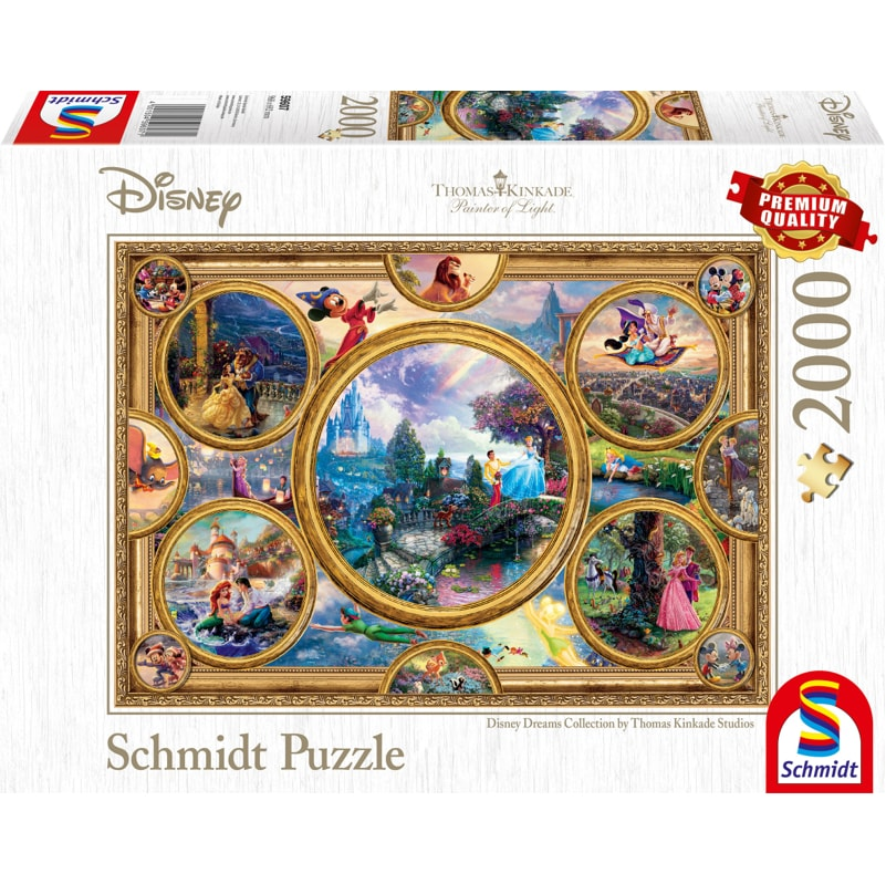 Schmidt Puzzle 2000pc: Disney Dreams Collection