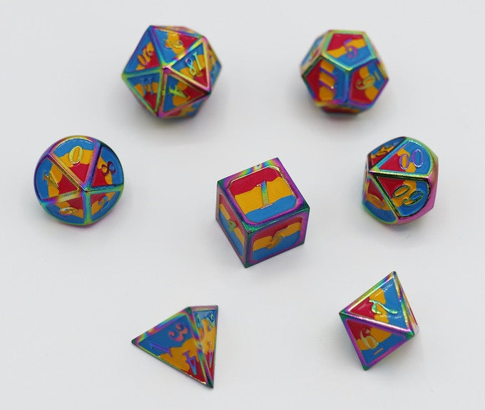 Dice For All: Metal Pride Flag Dice
