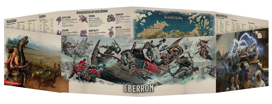 D&D Dungeon Master's Screen Eberron