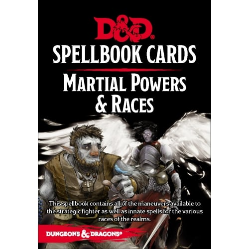Dungeons & Dragons Martial Powers & Races Spellbook Cards