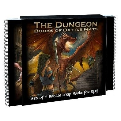 Dungeon Book of Battle Mats 2 Book Set