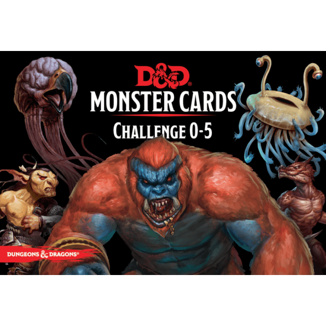Dungeons and Dragons Monster Cards challenge 0-5