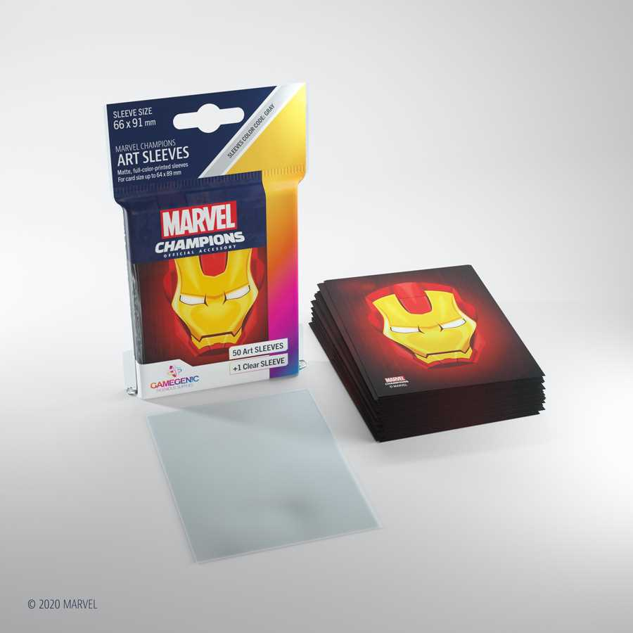 Gamegenic Marvel Champions  Iron Man Art Sleeves (51pk.)
