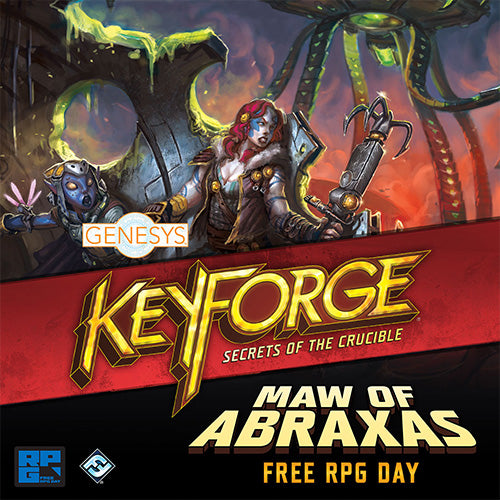 Free RPG Day Ticket Keyforge Genesys- Open Air