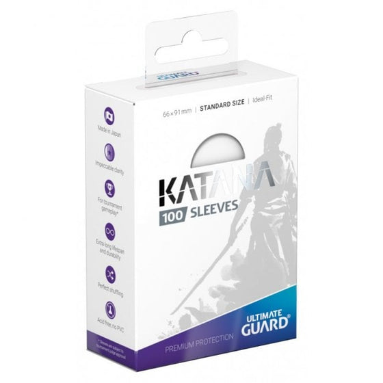 Ultimate Guard Katana Card Sleeves Standard Size Transparent (100)