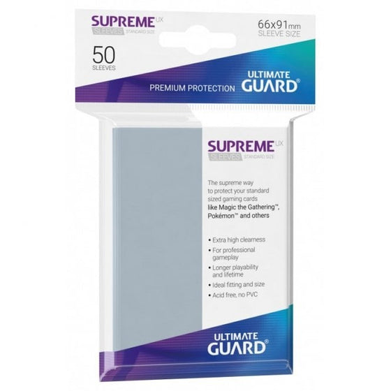 Ultimate Guard Supreme UX Standard Card Games Sleeves Transparent (50)