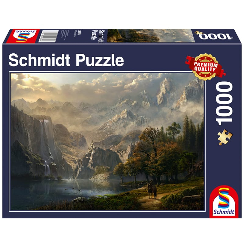 Schmidt Puzzle 1000pc: Pastoral Waterfall