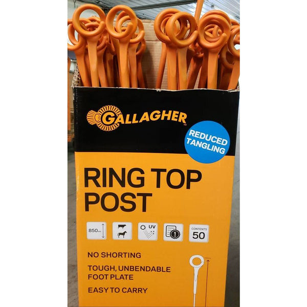 Box of 50~~ Gallagher, Ring Top Step-in Post
