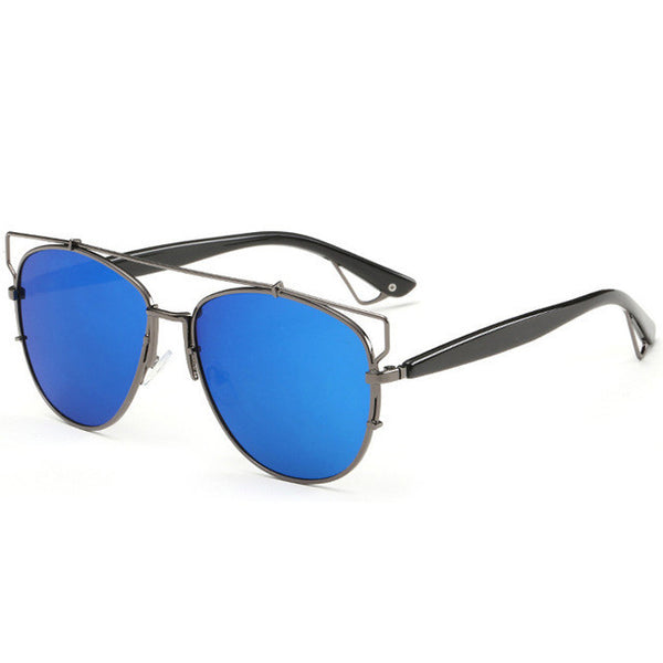 Accessories - Reflective Metal Frame Sunglasses