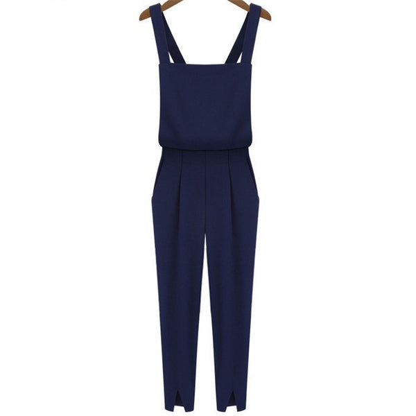 Jumpsuit - Plain Navy Jumpsuit