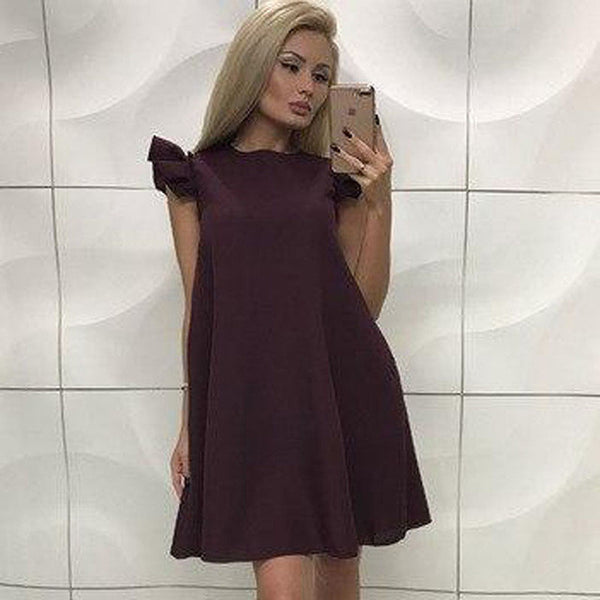 Mini Dress Butterfly Sleeve