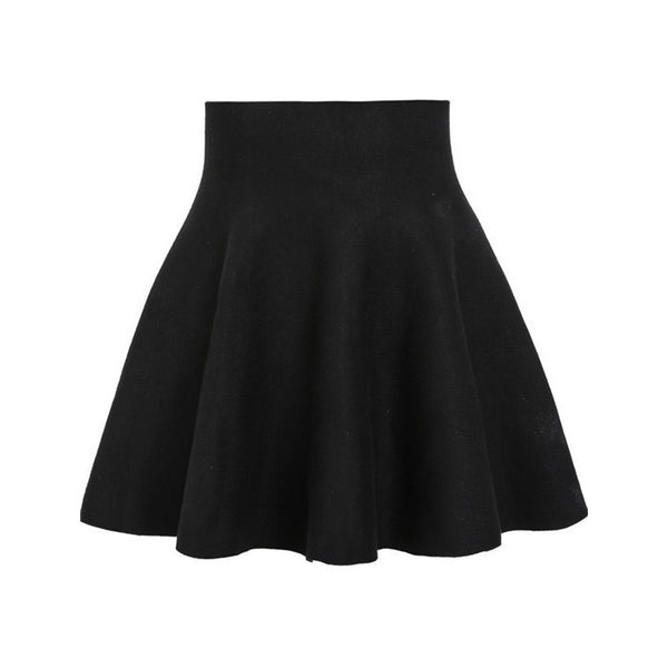 Skirts - Black High Waisted Pleated Skirt