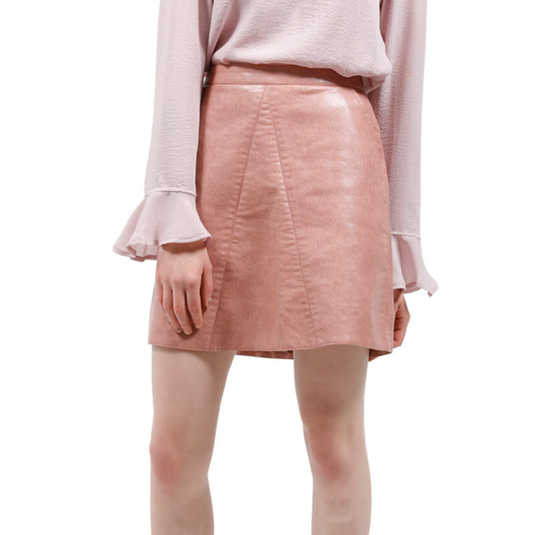 Skirts - Faux Leather Skirt