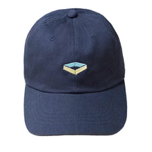 'Yellow Emblem' Cap - Navy