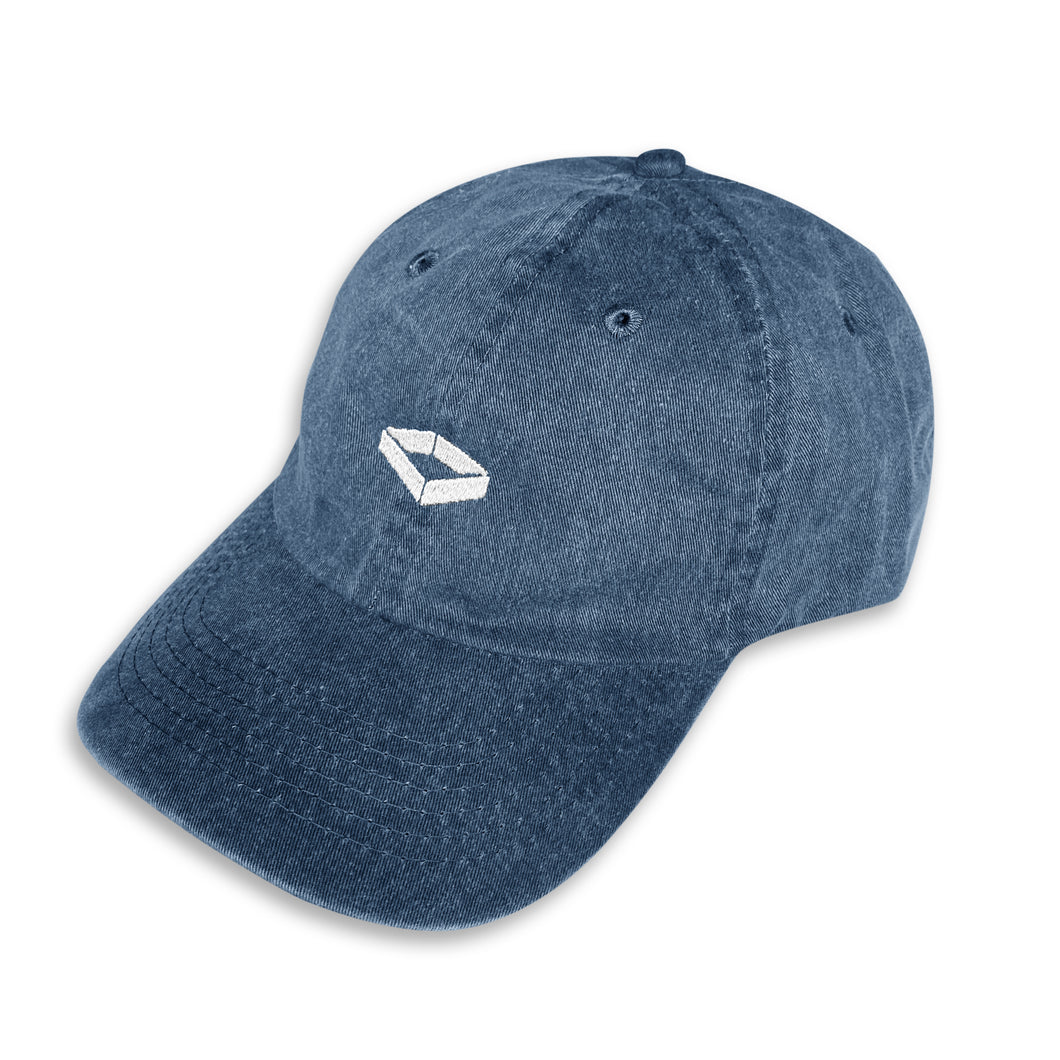 'Acid Wash' Cap - Blue