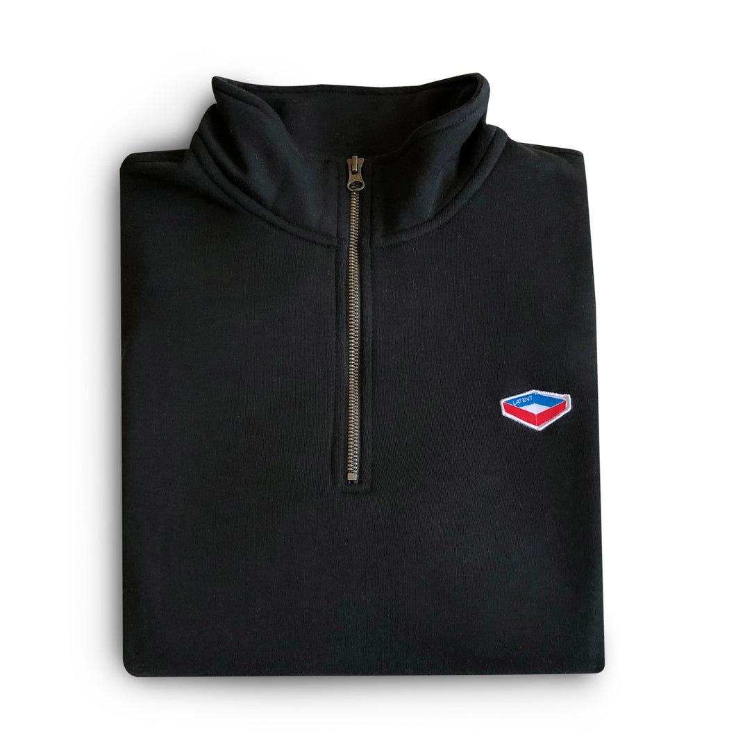 'Badge' Q-Zip - Black