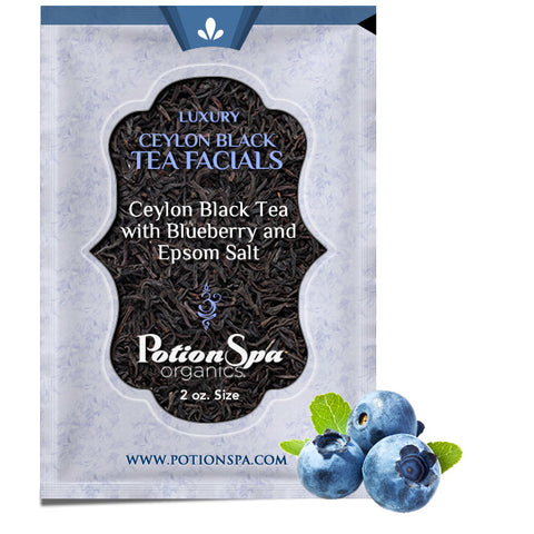 Ceylon Black Tea with Blueberry Tea Facial