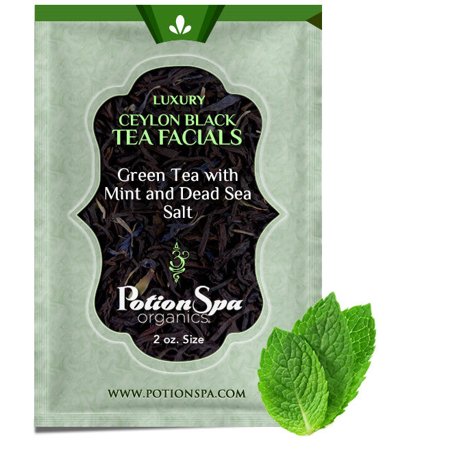 Ceylon Green Tea with Mint Tea Facial