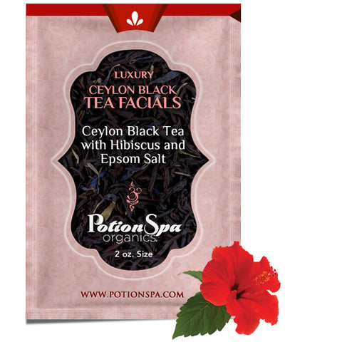 Ceylon Black Tea with Hibiscus Flower Tea Facial