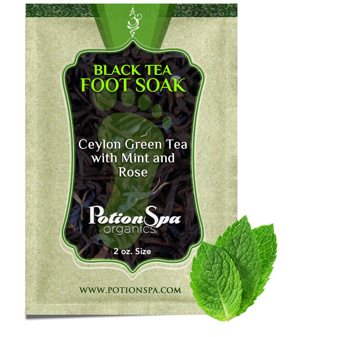 Ceylon Green Tea with Mint and Rose Foot Soak