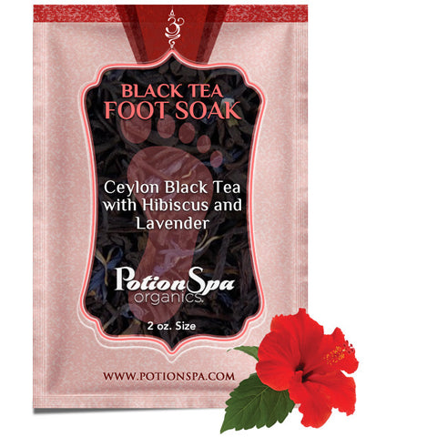Ceylon Black Tea with Hibiscus and Lavender Foot Soak