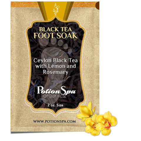Ceylon Black Tea with Lemon and Rosemary Foot Soak