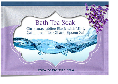 Christmas Jubilee Black Tea with Mint Bath Tea Soak