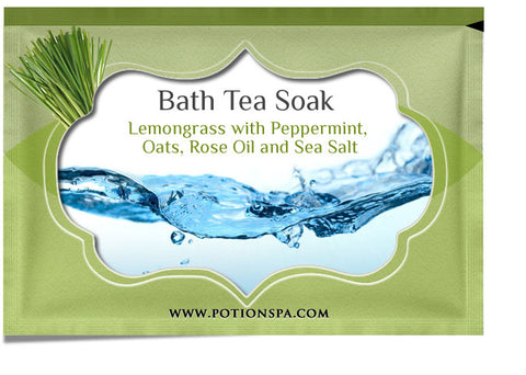 Lemongrass with Peppermint Bath Tea Soak