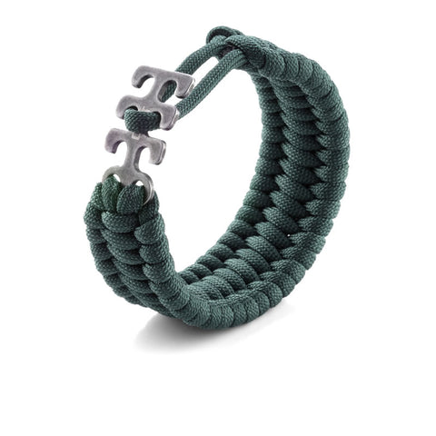 Adjustable Paracord Bracelet - Green