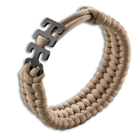 Adjustable Paracord Bracelet - Tan