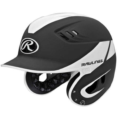 Rawlings Velo Series Junior 2-Tone Away Batting Helmet-Black
