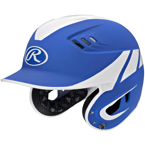 Rawlings Velo Series Junior 2-Tone Away Batting Helmet-Blue
