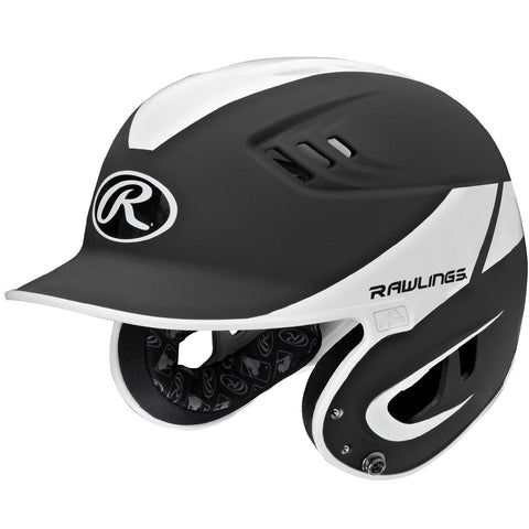 Rawlings Velo Series Senior 2-Tone Away Batting Helmet-Black