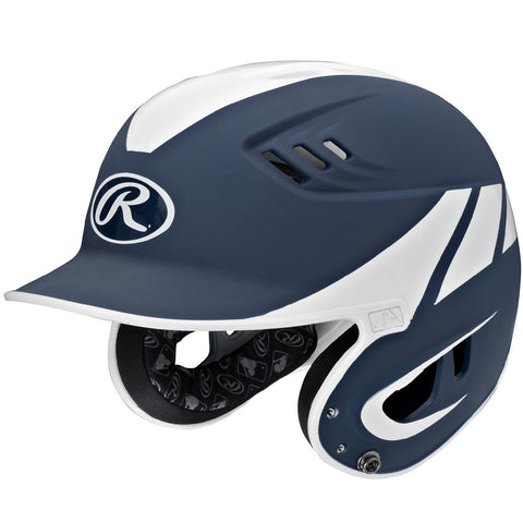 Rawlings Velo Series Senior 2-Tone Away Batting Helmet-Navy
