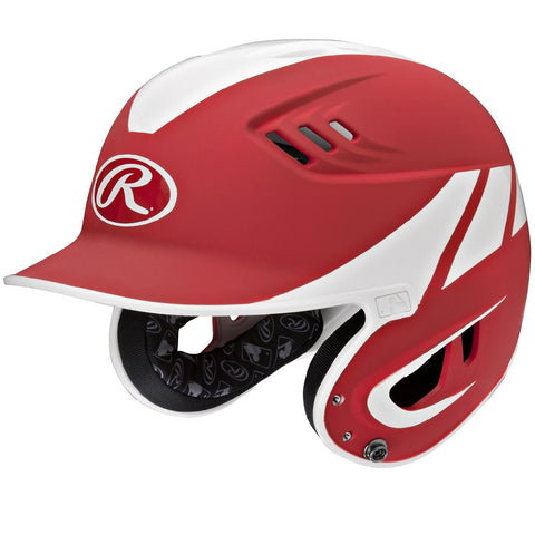 Rawlings Velo Series Senior 2-Tone Away Batting Helmet-Red
