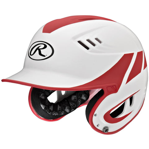 Rawlings Velo Series Junior 2-Tone Home Batting Helmet-Red