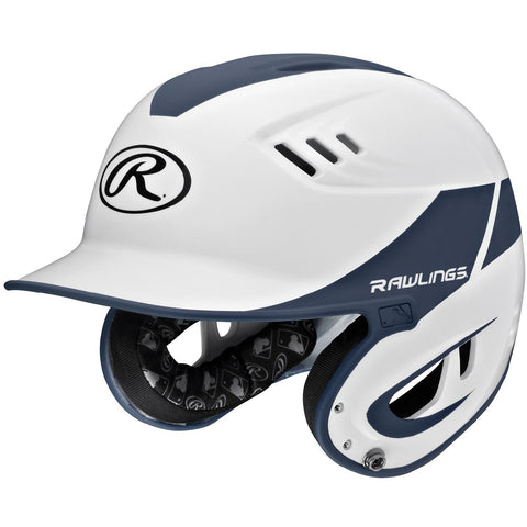Rawlings Velo Series Junior 2-Tone Home Batting Helmet-Navy