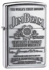 Zippo Jim Beam Pewter Emblem High Polish Chrome
