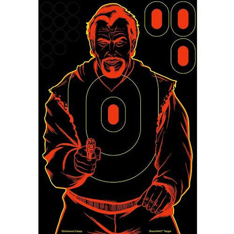 Birchwood Casey Shoot-N-C Bad Guy 12x18 Silhouette Tgt 12pk