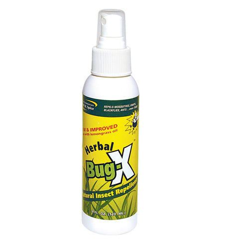 Herbal Bug-X Natural Insect Repellent Spray - 4 Ounce