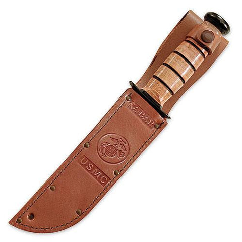 Ka-Bar Brown Leather USMC Sheath 7 Inch 1217S