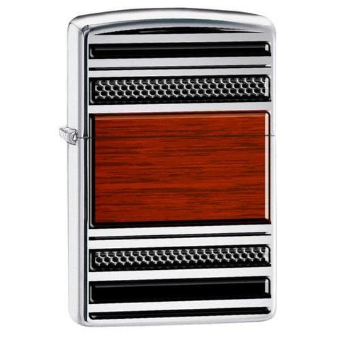 Zippo Steel & Wood Pipe Lighter 28676