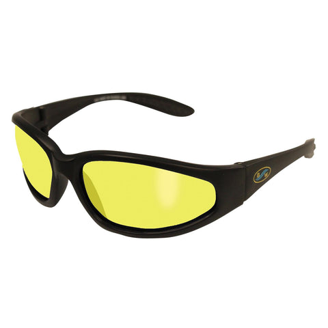 BlueWater Sharx YT Matte Black Nylon - Polarized Yellow Lens