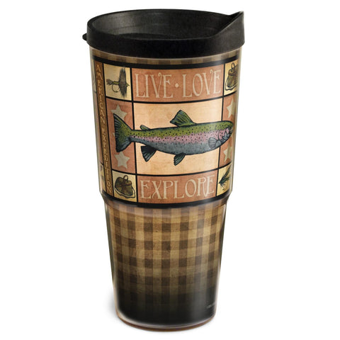 American Expedition 24oz Two-Tier Tumbler-Lodge Series Trout