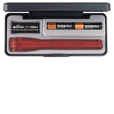 AA Mini Maglite LED Pro+ AA Red Flashlight Presentation Box,